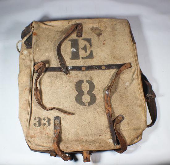 Indian Wars Or Spanish American War Marked Back Pack. Rare!