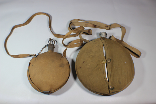 Rare Pre 1900 Canteen Lot. Military Academy & Commercial.