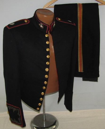 WW2 Period USMC Lt. Colonel's Formal Dress Jacket With Pants-Korean War Period EGA's
