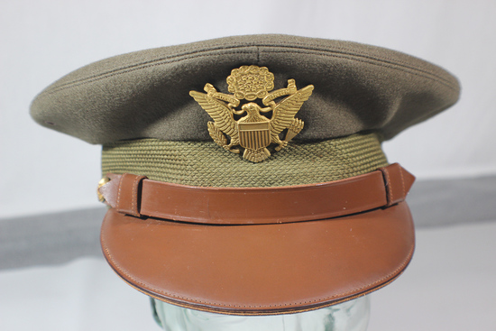 "Very Nice Crusher ""Style"" Wallach's 5th Avenue Named Army Officer's Visor Cap."