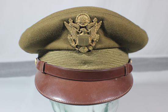 "Very Nice Crusher ""Style"" Berkshire Army Officer's Visor Cap."
