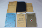 US WW2 Field Manual Lot. 1940 Blue Jackets Manual. First Aid. Cook. Mechanic. Handbook. Red Cross.