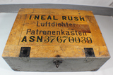 WW2 German 7.92 Ammunition Crate 1500 Rounds. Empty. W/ US Vet Name & Serial Number. Nicely Painted!