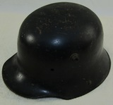 WW1 Pre WW2 M18 Helmet Shell Period Black Paint. Removed Decal. Possible Freikorps Helmet.
