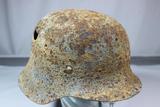WW2 German M42 Ground Dug Combat Helmet.