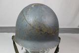 US WW2 USN Navy Front Seam Swivel Bale Blue Helmet W/ Liner.