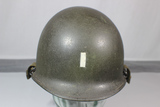 US Korean War Era M1C Airborne Paratrooper Jump Helmet. Painted Lt. Bar. Firestone Liner. Nice.