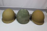 Lot of 3 US Vietnam Era M1 Helmets. 2 Liners. Both Westinghouse. Both Rough.