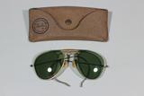 US WW2 Aviator Sunglasses W/ Rare Case.
