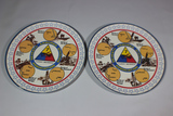 Lot of 2 US WW2 7th Armored Division Commemorative Plates. Plastic. Texas Ware.