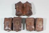 Lot of 3 Post WW2 Communist Block Leather Ammunition Pouches.