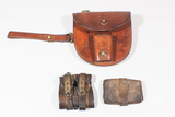 Mixed Lot WW1 British Cavalry Horseshoe Carrier, Wallet, & Carbine Ring.