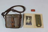 4pcs WW2 Japanese Items-4 X 10 Binocular Case W/ Strap, Photo, Shoulder Board & Collar Tab.