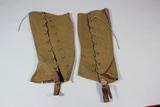 US Pre WW1 Army Cavalry Leggings Spats Gaiters