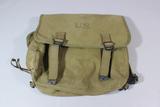US WW2 Musette Bag. 1943 dated. Khaki Canvas.