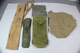 US WW2 Mixed Bag Pouch Lot. 2 Ponchos!