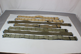 US WW2 Lot of 7 Pistol Belts. Various Colors, Conditions, and Ages.