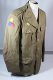US WW2 Armored Class A Dress Uniform Jacket W/ Collar Brass. Scattered Mothing.