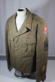US WW2 ADSEC Communications Allied Forces Headquarters Ike Uniform Jacket. Named