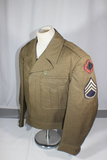 US WW2 43rd Infantry Division Ike Uniform Jacket. Gorgeous Well Made Bullion Patch W/ Nice Toning.