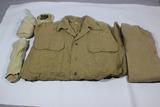 US WW2 Shirt, Belt, Socks, & Undershirt Uniform Set.