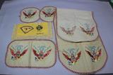 US WW2 Sweetheart Doilies, Table Runner, & Handkerchief Set.