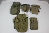 US & Foreign Vietnam War Era Canvas Field Gear Lot. 2 M1956 M16 Magazine Pouches!