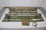 Lot of 8 US Vietnam Era Pistol Belts