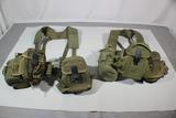 Lot Of 2 US Vietnam Era Infantryman Pistol Belt Rigs.