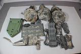 Lot of ACU Molle Gear. Leg Holster, Mag Pouches, Canteens & Covers, Etc.