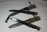 2 Cold War Era Spanish Bolo Bayonets. Used Condition.