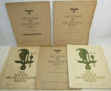 5pcs-WW2 German Third Reich Art Portfolio Booklets