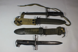 2 Korean War Era M1 Garand Bayonets Modified to M5 Blade.