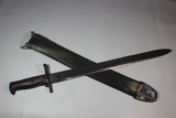 US WW1 M1905 Bayonet By Springfield.  1918 Dated. With Rare Navy Dyed Blue Canvas Scabbard Cover.