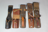 Lot of 4 Leather Bayonet Frogs