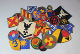 Lot of 35 US WW2 Cut Edge Snowy Back Patches