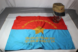 North Vietnamese Flag & Field Cap.