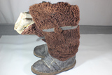 Post WW2 Soviet Russian Fur Cold Weather Mukluks Boots.