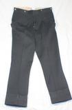 WW2 German Black Doeskin Wool Uniform Pants. Unmarked.
