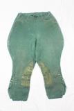 Pre WW2 German Polizei Green  Gabardine Riding Pants Jodphurs.  Tiny Size.  Unmarked.