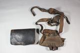 Indian Wars Period Waterliviet Arsenal Equipment or Sword Hanger & Named Cartridge Box.