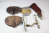 US WW1 & Earlier Cavalry Horse Tools, Brushes, Misc. Pieces, & 11th Cavalry Marked Bit.
