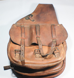 1917 Dated US WW1 Cavalry Saddle Bags. Long 1917. Supple Strong NICE!