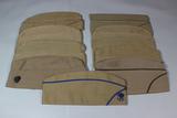 US WW2 Lot of 10 Khaki Overseas Garrison Caps