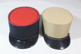 Lot of 2 Post War French Enlisted Kepis.  Khaki & Navy With Red Top.