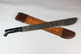US WW2 1943 Dated True Temper  Machete W/ Hand Painted Wooden Scabbard.
