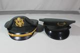Lot of 2 US Vietnam Era Visor Caps. Officer & ROTC