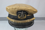 RARE WWII U.S. Maritime Service /Merchant marine Khaki  Visor Cap For Lt. Commander.