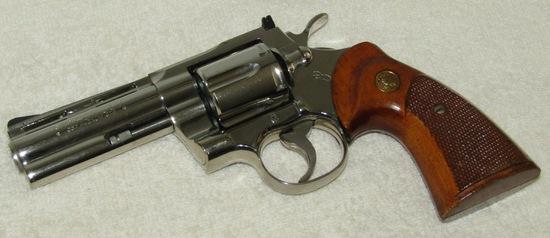 "Colt Model ""PYTHON""  .357 Magnum Revolver-Nickel Finish 1973 Production Year"