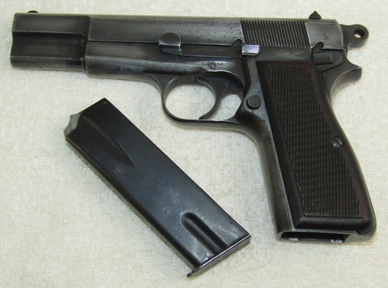 WW2 Period Pre Nazi Occupation FN Browning High Power Pistol